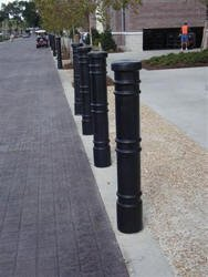 Decorative Bollard Cover Metro Black with AC light-0