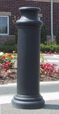 Decorative Bollard Cover Pawn-Black-0
