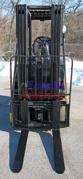 5,000 LB Caterpillar E5000-AC Electric Cushion Triple Mast Forklift (St. Louis)-5317