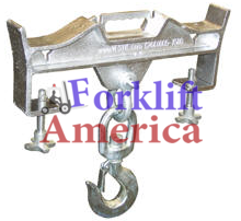 Double Fork Rigid Hoisting Hook 4000 LBS Capacity-0
