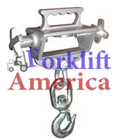 Auto-Tension Single Fork Swivel Hoisting Hook 4000 LBS Capacity-0