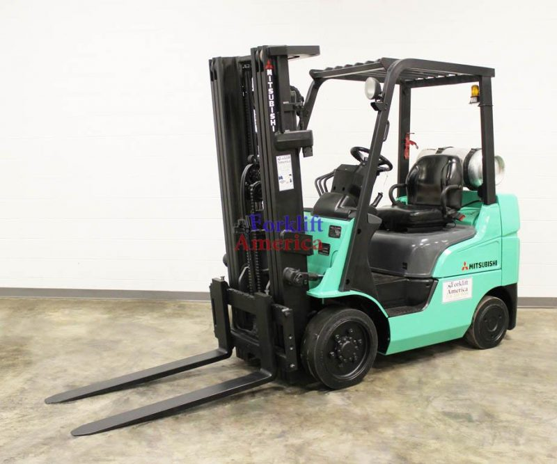 5,000 LB Mitsubishi FGC25N Cushion Forklift w/NEW ENGINE!!!-12043