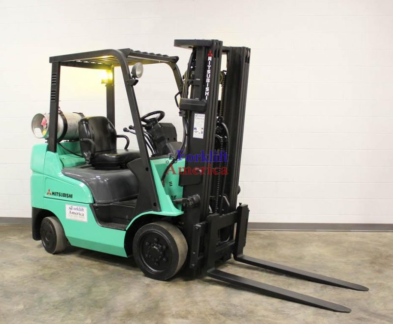 5,000 LB Mitsubishi FGC25N Cushion Forklift w/NEW ENGINE!!!-0